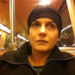 Full on chemo. Bald and wearing hats (I hated the wig).