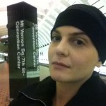 This is towards the end of chemo. Looking cancery here, but never fully lost my brows or lashes which was nice..
